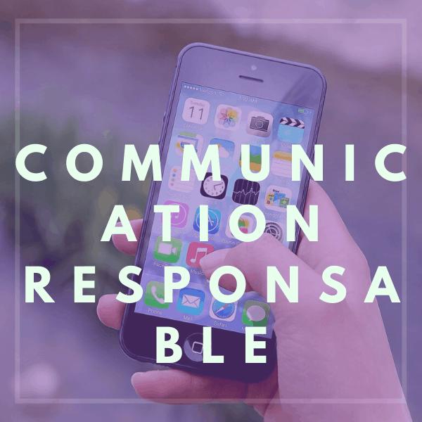 COMMUNIQUER RESPONSABLE